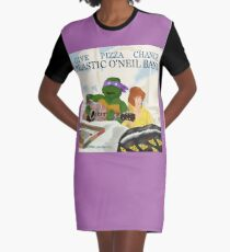 Give Pizza Chance - Plastic O'Neil Band Graphic T-Shirt Dress