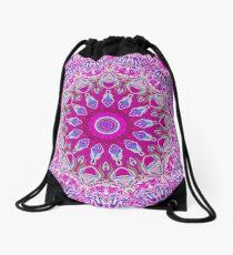 Colourful Pink and Blue Mandala Design Drawstring Bag