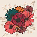 «Boho Florals Nr. 1 - En Beige» de MonJaro