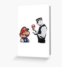 Mario Caught Greeting Card
