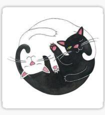 Kitten Yin Yang Sticker