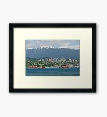 Majesty Of Vancouver Harbor Framed Print
