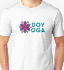 "AUM Symbol, flower mandala and ""DO YOGA"" sign for yoga Unisex T-Shirt"