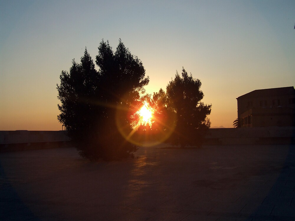 Cagliari sunset by John Quinn