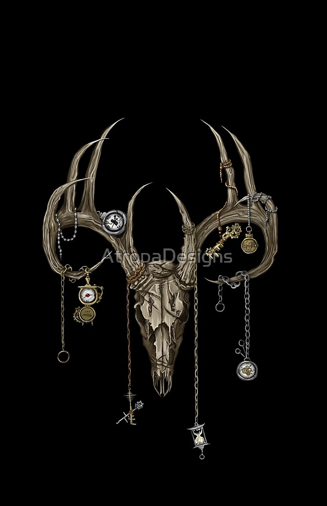 Deer Skull Death Clock