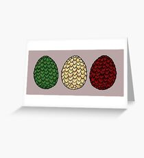 Game of Thrones dragon eggs Greeting Card