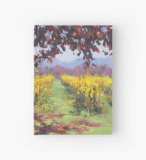 Fall Vineyard Painting Hardcover Journal