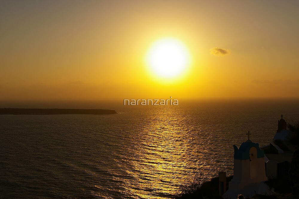 Santorini sunset by naranzaria