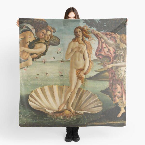 The Birth of Venus - Nascita di Venere by Sandro Botticelli Scarf