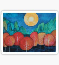 Blue Mountain Orchard in the Fall Sticker