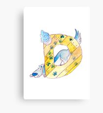 Animal ABC: D Canvas Print
