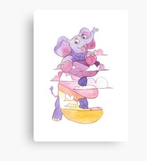 Animal ABC: E Canvas Print