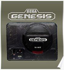 Vintage Genesis 16 Bit V01 Poster