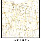 JAKARTA INDONESIA CITY STREET MAP ART by deificusArt
