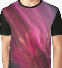 Fleur Blur-Abstract Pink Gerbera Daisy Graphic T-Shirt