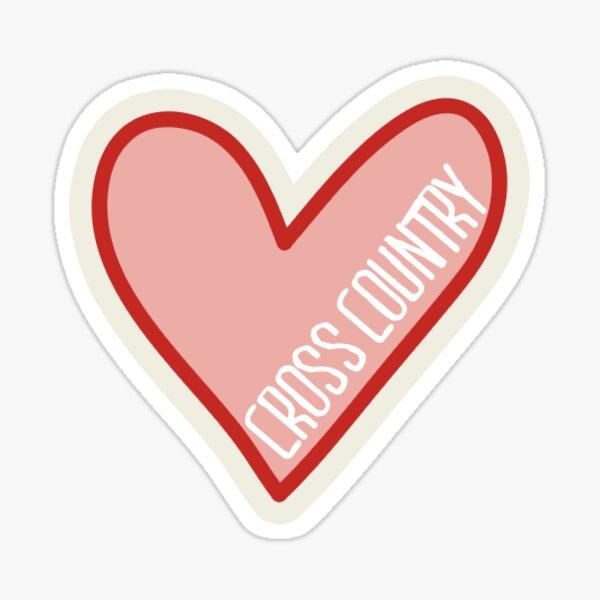 Cross Country Heart Sticker