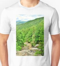 Glenn Falls Nantahala National Forest NC Vertical Unisex T-Shirt