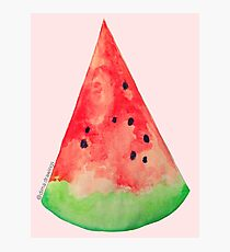 Watercolor watermelon painting Photographic Print