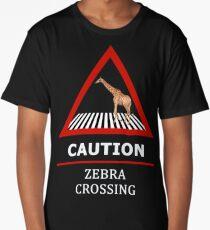 Zebra Crossing Road Sign Long T-Shirt