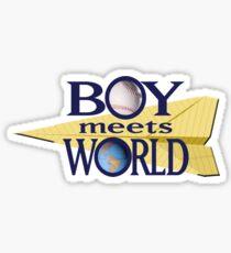 Boy Meets World Logo Sticker