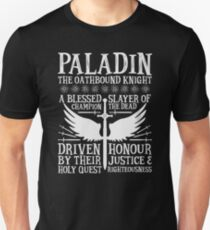 PALADIN, THE OATHBOUND KNIGHT- Dungeons & Dragons (White) T-Shirt