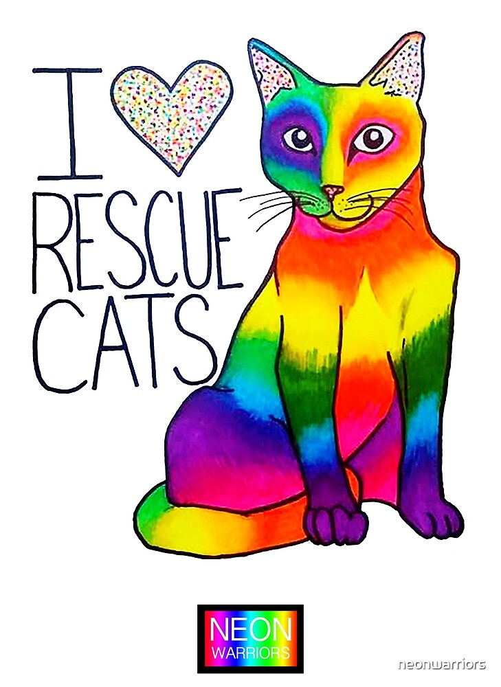 I (Heart) Rescue Cats by neonwarriors