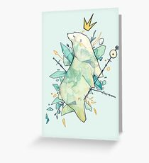 Polar bear king Greeting Card
