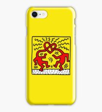 keith, haring, keith haring, graffiti, trending, symbol, pop art, funny, logo, people, family, motif. iPhone Case/Skin