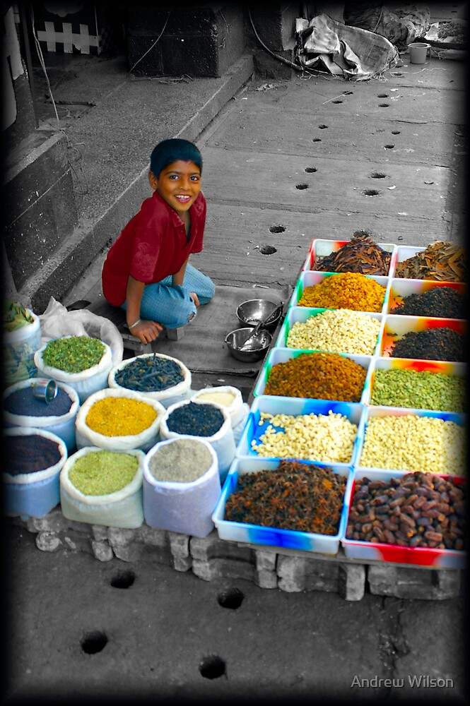 Bangalore Market Seller by Andrew Wilson