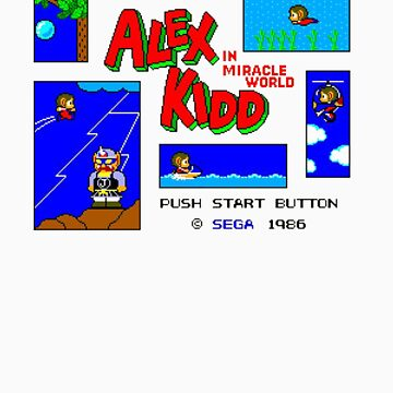 Alex Kidd in Miracle World [title screen] by calart