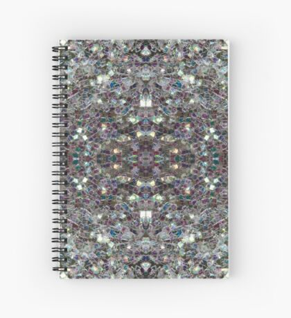 Sparkly colourful silver mosaic mandala Spiral Notebook