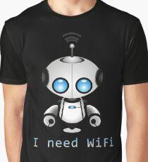 Cute Robot Graphic T-Shirt