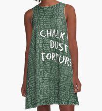 Kreidestaubfolter Phish A-Linien Kleid