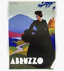 Abruzzo Italy restored vintage Italian travel  Poster