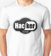 hacker zone, wifi logo spoof T-Shirt