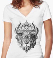 Camiseta entallada de cuello en V Rey Leon