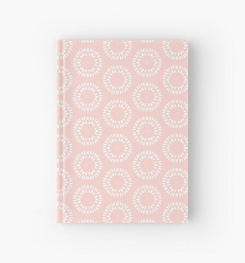 Cute Pink & White Drawn Circles Pattern by tanyadraws