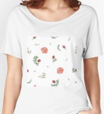 flowers watercolor  Women's Relaxed Fit T-Shirt