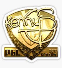 Sticker | KennyS (Gold) | Krakow 2017 Sticker