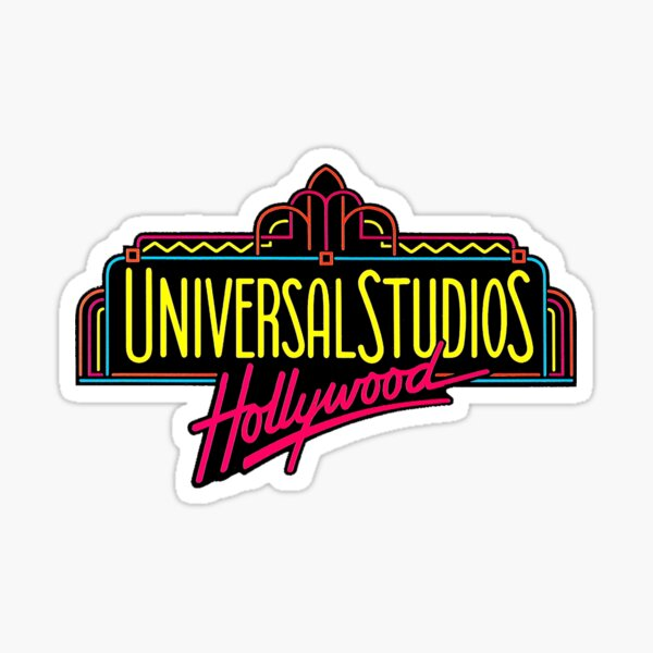 Universal Studios Hollywood Vintage Logo  Sticker