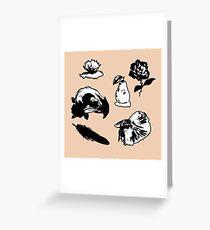 Psycho tropical Greeting Card