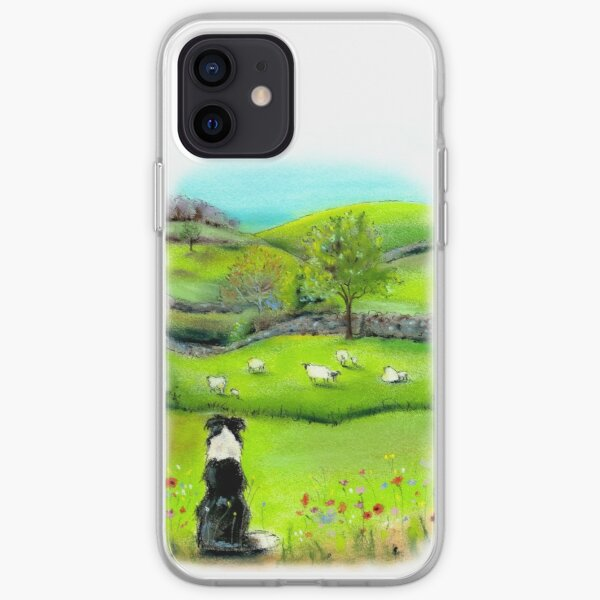 Keeping Watch - Border Collie Sheep Dog iPhone Soft Case