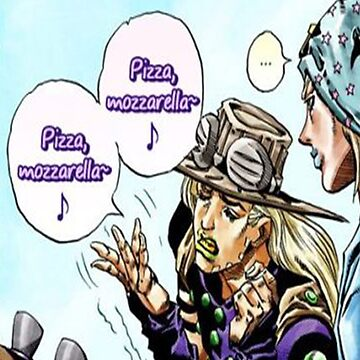 Jojo's Bizarre Adventure Pizza Mozzarella~ by themistling