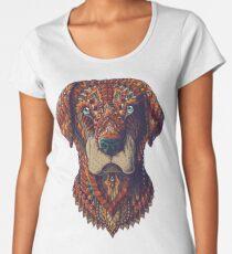 Camiseta premium de cuello ancho Labrador (Versión en color)