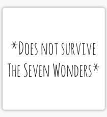 AHS The Seven Wonders Sticker