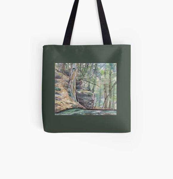 Mountaintop forest All Over Print Tote Bag