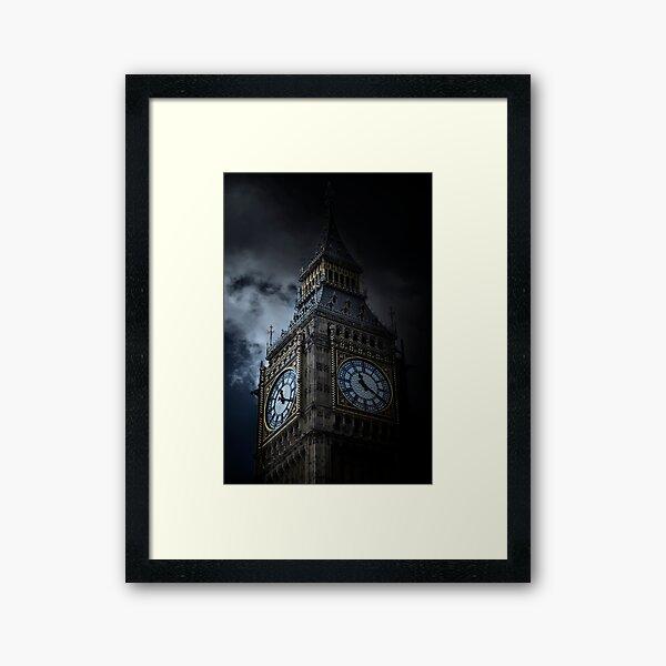 Elizabeth Clock Tower in London Framed Art Print