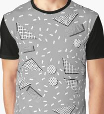 Grey 90s Pattern Graphic T-Shirt