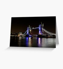 Tower Bridge, London night Greeting Card
