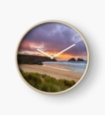 Holywell Bay Sunset Clock